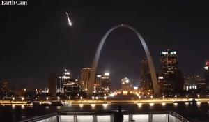 St. Louis Arch w/ Meteor